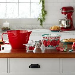 The Pioneer Woman 10-Piece Melamine Batter Bowl Set, Holiday