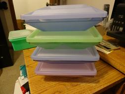 4 Tupperware Get Togethers Divided Serving Dishes 1386 From