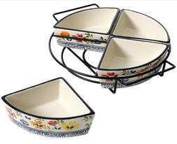 Gibson Elite 5 Piece Luxembourg Stoneware 4 Sectional Servin