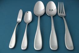5pc Serving Tablespoon Fork Pierced Oneida VOSS Glossy Stain