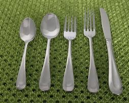 76 Pc Oneida Satin SAND DUNE Stainless Flatware Set Wide Fro