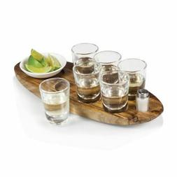 Legacy-A Picnic Time Brand Cantinero 6-Shot Glass Serving Se