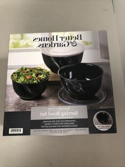 better homes and gardens 6pc Serving Bowl Set Black Marble