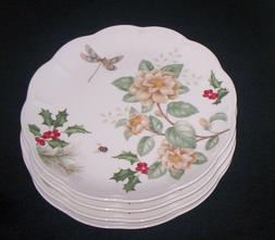 Lenox Butterfly Meadow Holiday JASMINE Dinner Plates Dragonf