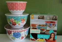 The Pioneer Woman Classic Charm Melamine Serving Bowl Set Wi
