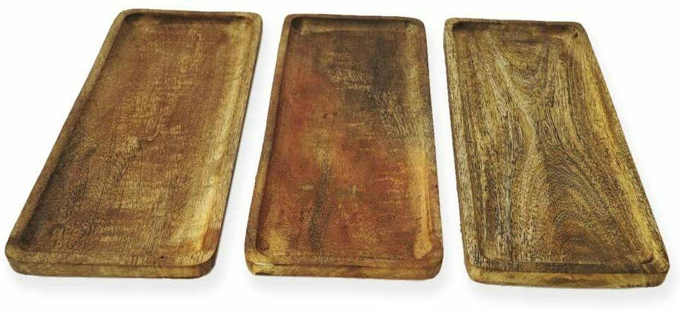 mango wood serving platter tray for food