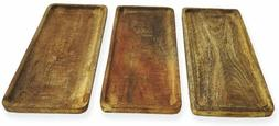 Mango Wood Serving Platter, Tray For Food, Party, Dinning Di