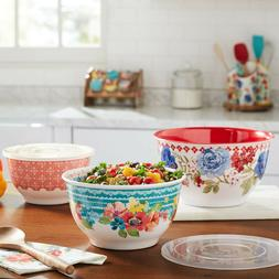 THE PIONEER WOMAN MELAMINE MIXING SERVING BOWL SET  CLASSIC