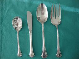 Reed & Barton French Chippendale Silverplate 4 Piece Serving