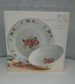"""Thomson Pottery Rosa Set of 2, 9"""" Serving Bowl and 12"""" Round"""
