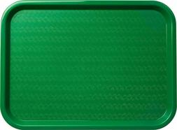 Serving Trays Green Plastic Fast Food Tray, 12 By 16-Inch,