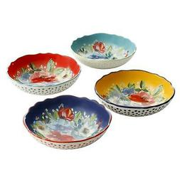 Set of 4 Pioneer Woman Melody Pasta Bowls Spaghetti Linguine