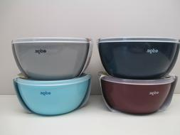 Edge set of 4 prep bowls with lids choice of color