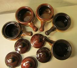 Set of 5 - French Onion Soup Crock / Chili Bowls  with Handl