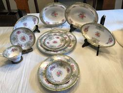 Shelley dinner set for 12/ 7piece each + Serving Pieces, the
