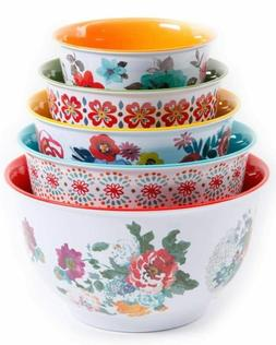 The Pioneer Woman 10-Piece Nesting Mixing Serving Bowl Set f