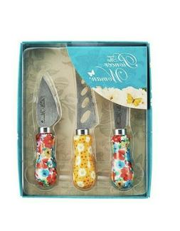 The Pioneer Woman Breezy Blossom 3 Piece Cheese Knife Servin