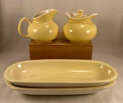 Vintage Ceramic Cream and Sugar Set with 2 Serving Dishes