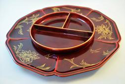 Vintage Maruni Lacquerware Platter Serving Set Made in Occup