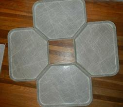 Vintage MCM Serving Tray Cambro Camtray Atomic Pattern Fiber